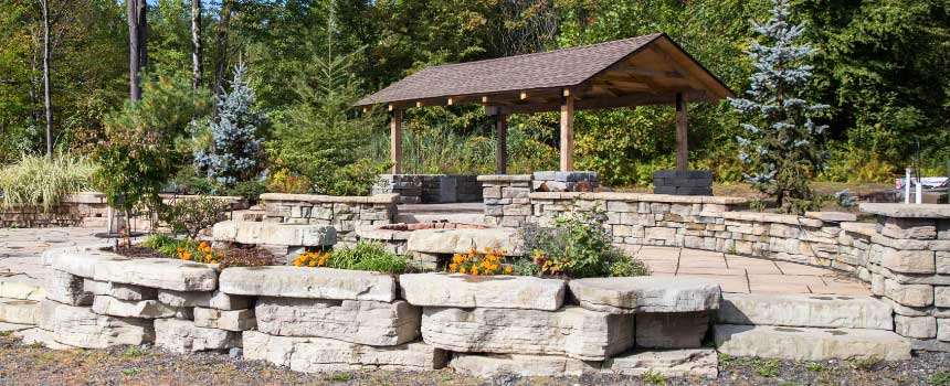 A hardscape installation at Kalleco Nursery in Tillson, NY