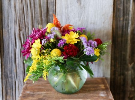 Colorful wildflower bouquet Hudson Valley